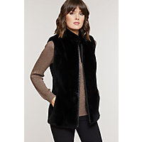 Women's Shannon Classic Sheared Beaver Fur Vest, Black, Size Small (8-10) Western & Country