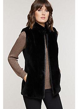 Women's Shannon Classic Sheared Beaver Fur Vest