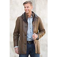 Men's Daniel Shearling Sheepskin Coat, Rugged Whiskey, Size 44 Western & Country