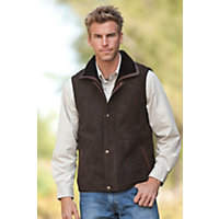 Men's Rockford Shearling Sheepskin Vest With Leather Trim, Santa Fe, Size Large (44) Western & Country
