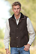 Men's Rockford Shearling Sheepskin Vest with Leather Trim
