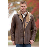 Men's Carter Shearling Sheepskin Coat, Castano Brown, Size 42 Western & Country