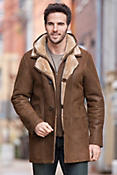 Men's Dylan Hooded Shearling Sheepskin Coat