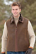 Men's Hayden Shearling Sheepskin Vest with Leather Trim