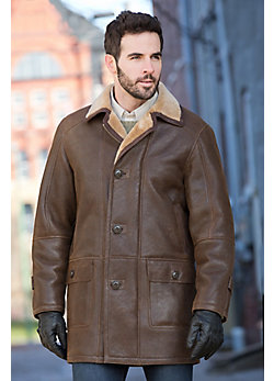 Men's Madison Shearling Sheepskin Coat