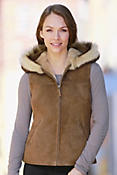 Tammy Shearling Sheepskin Vest with Toscana Trim
