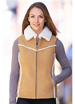 Women's Eve Shearling Sheepskin Vest