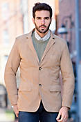 Men's Shane Goatskin Sueded Leather Blazer
