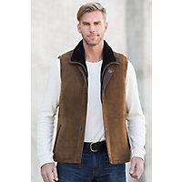 Explorer Shearling Sheepskin Vest, SUEDE COCOA, Size 42