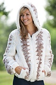 Women's Lulu Knitted Rabbit Fur Jacket