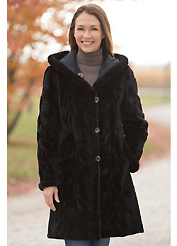 Aloisa Reversible Mink Fur Coat