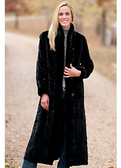 Women's Calista Reversible Sheared Mink Fur Coat
