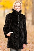 Women's Cadence Reversible Sheared Mink Fur Coat