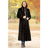 Women's Hayley Reversible Danish Mink Fur Coat, Black, Size Xsmall (4) Western & Country