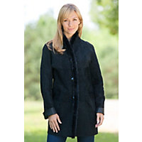Women's Cyann Reversible Leather Jacket With Mink Fur Trim, Black, Size Small (6-8) Western & Country