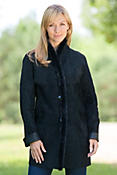 Women's Cyann Reversible Leather Jacket with Mink Fur Trim