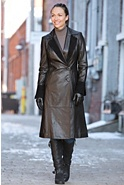 Women's Zia Lambskin Leather Coat with Suede Trim