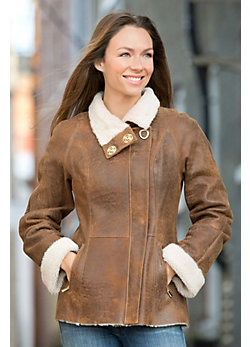 Alexandra Shearling Sheepskin Jacket