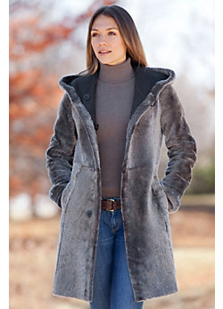 Women's Giselle Reversible Shearling Sheepskin Coat