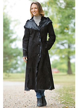 Women's Odette Double-Faced Goatskin Leather Coat