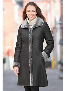 Women's Delaney Reversible Shearling Sheepskin Coat