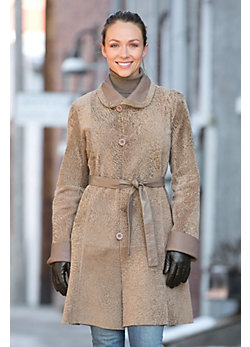 Beatrice Reversible Astrakhan Lamb Coat