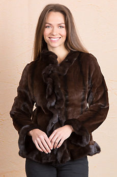 Adira Danish Mink Fur Jacket