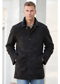 Men's Eddy Sueded Shearling Sheepskin Coat