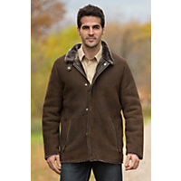 Men's Benjamin Shearling Sheepskin Coat, Olive, Size Large (42) Western & Country