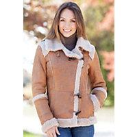 Women's Camarilla Shearling Sheepskin Jacket, Brown, Size Large (10) Western & Country