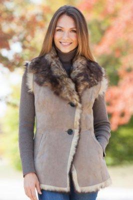 Alicia Toscana Sheepskin Vest