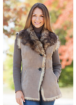 Women's Alicia Toscana Sheepskin Vest