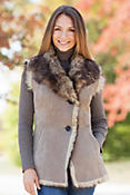 Women's Alicia Toscana Shearling Sheepskin Vest