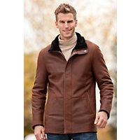 Men's Nolan Shearling Sheepskin Jacket, Cognac / Black, Size Xlarge (46) Western & Country