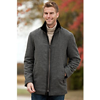 Men's Killian Herringbone Wool-Blend Zip Jacket, Grey, Size Medium (42) Western & Country