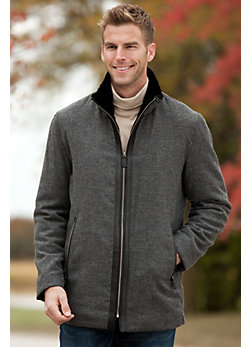 Men's Killian Herringbone Wool-Blend Zip Jacket