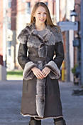 Women's Verona Shearling Sheepskin Coat with Toscana Trim