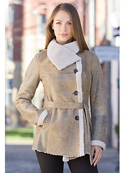 Deena Shearling Sheepskin Coat