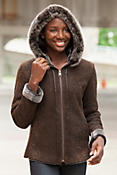 Women's Portia Embossed Shearling Sheepskin Jacket with Toscana Trim