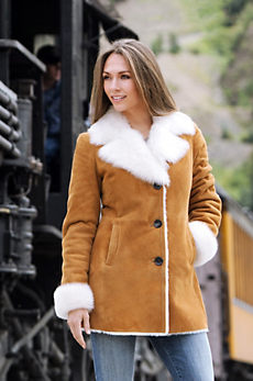 Lucille Shearling Sheepskin Coat With Toscana Trim