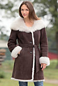 Women's Liane Shearling Sheepskin Coat with Toscana Trim