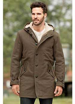 Griffin Cotton Canvas Field Jacket with Shearling Lining