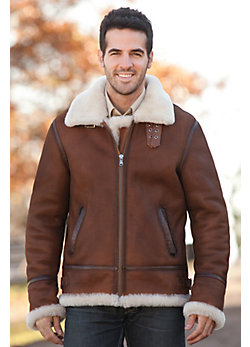Men's Jason Sheepskin B-3 Bomber Jacket