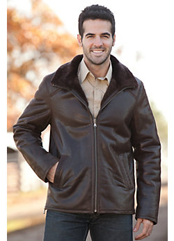 Men's Raymond Leather Jacket with Shearling Lining