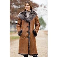 Women's Renata Toscana Sheepskin Coat, Whiskey, Size Small (4-6) Western & Country