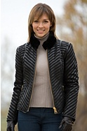 Women's Leona Leather and Shearling Jacket