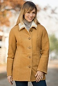 Women's Dakota Shearling Sheepskin Barn Coat