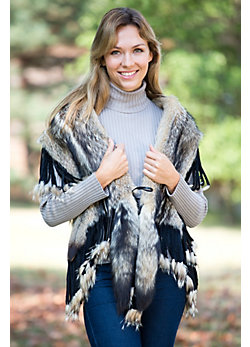 Women's Carillon Fox Fur Fringe Wrap