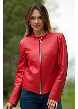 Women's Vivian Lambskin Leather Jacket