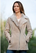 Women's Leena Shearling Sheepskin Coat with Toscana Collar